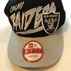 Oakland Raiders adjustable New Era Black/silver